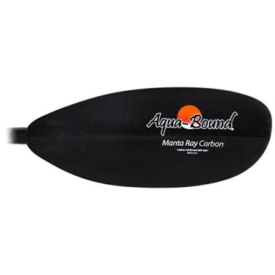 Aqua-Bound Manta Ray 2-Piece Carbon Paddle Straight Shaft Black, 240cm