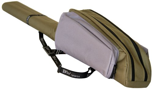 BW Sports RC-2090 Dual Spinning Rod and Reel Case for 9 ft. 2-Piece Spinning Rods
