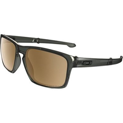 Oakley Sliver F Sunglasses – Polarized Matte Olive Ink/Tungsten Irid Polar, One Size