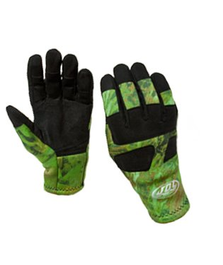 JBL Camouflage 2mm Nylon Coated Spearfishing Gloves with Reinforced Palms (LG)