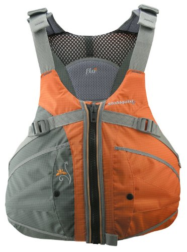 Stohlquist Women's Flo Life Jacket/Personal Floatation Device (Orange/Gray, Plus)