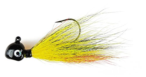 Flexi Jig 1/2-Ounce Buck Tail Flexi-Jig, Black/Yellow/Red