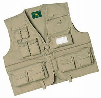 Crystal River C/R Fly Fishing Vest ,Khaki, Large