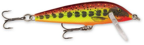 Rapala Countdown 01 Fishing lure, 1-Inch, Hot Mustard Muddler