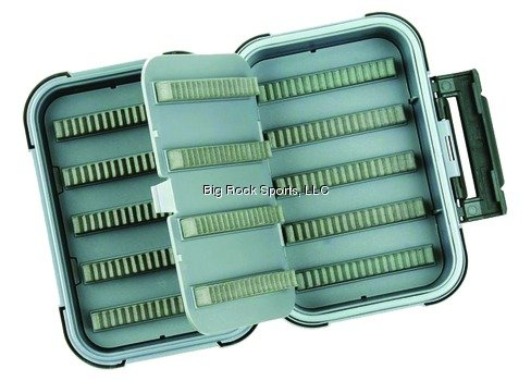 Flambeau Tackle Blue Ribbon Fly Box(Grey, 5×3.75×1.65-Inch)