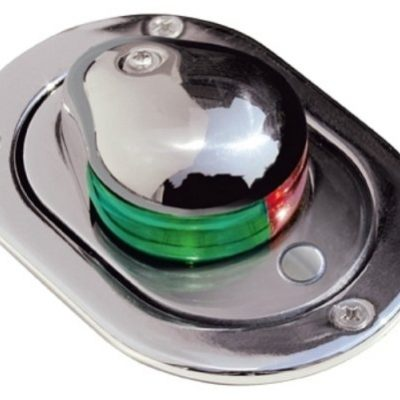 Aqua Signal Stainless Steel Hideaway Bi-Color Navigation Light Deck Mount