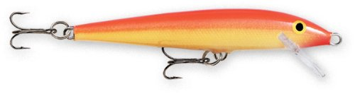 Rapala Original Floater 09 Fishing lure, 3.5-Inch, Gold Fluorescent Red