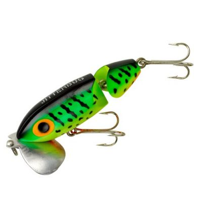 Arbogast Jointed Jitterbug Fishing Lure – Fire Tiger – 3 1/2 in