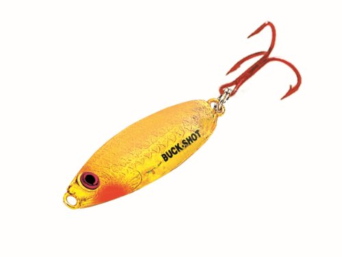 Northland BRS4-29 1/4-Ounce Buck-Shot Rattle Spoon, Super Glow Goldfish