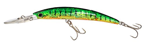 Yo-Zuri Crystal 3D Minnow Deep Diver Jointed Lure, Hot Tiger, 5-1/4-Inch