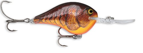 Rapala Dives-To 14 Fishing lure, 2.75-Inch, Dark Brown Crawdad