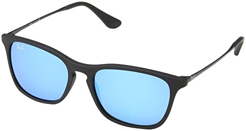 Ray-Ban Jr. Kids RJ9061s Rectangular Sunglasses, Rubber Black, 49 mm