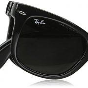 Ray-Ban FOLDING WAYFARER - BLACK Frame CRYSTAL GREEN Lenses 50mm Non-Polarized