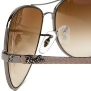 Ray-Ban RB8301 - GUNMETAL Frame CRYSTAL BROWN GRADIENT Lenses 59mm Non-Polarized