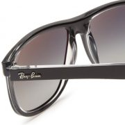 Ray-Ban RB4147 - TOP BLACK ON TRANSPARENT Frame GREY GRADIENT AZURE Lenses 60mm Non-Polarized