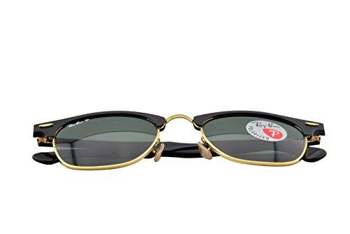 9cbf66b4463 Ray-Ban CLUBMASTER ALUMINUM – BLACK ARISTA Frame POLAR GREEN Lenses 51mm  Polarized