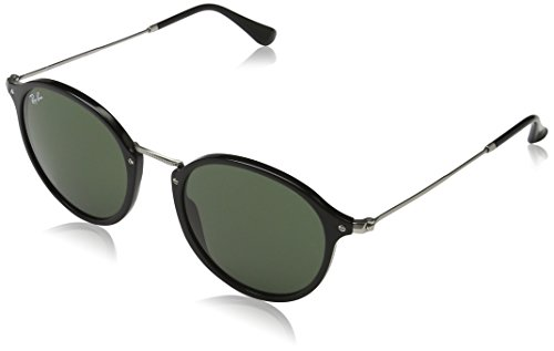 Ray-Ban ACETATE MAN SUNGLASS – BLACK Frame GREEN Lenses 52mm Non-Polarized