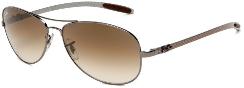 Ray-Ban RB8301 – GUNMETAL Frame CRYSTAL BROWN GRADIENT Lenses 59mm Non-Polarized