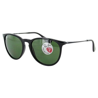 Ray-Ban ERIKA – BLACK Frame POLAR GREEN Lenses 54mm Polarized