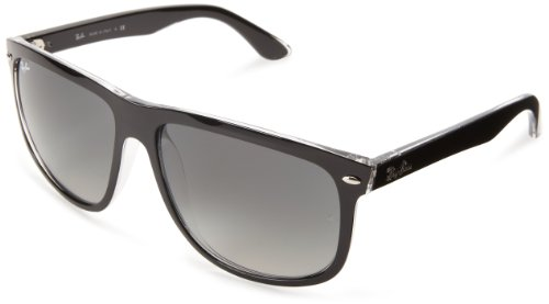 Ray-Ban RB4147 – TOP BLACK ON TRANSPARENT Frame GREY GRADIENT AZURE Lenses 60mm Non-Polarized