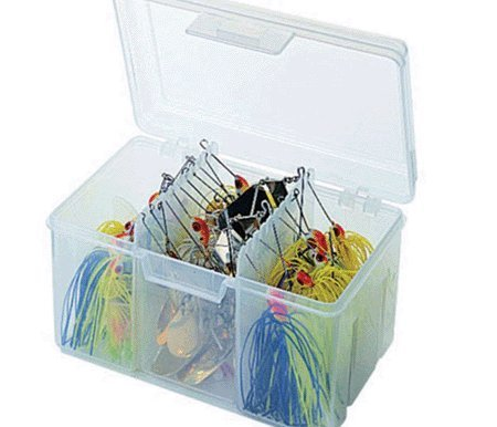 Flambeau Tackle Spinnerbait Utility Box (Clear, 6.5×4.625×4.125-Inch)