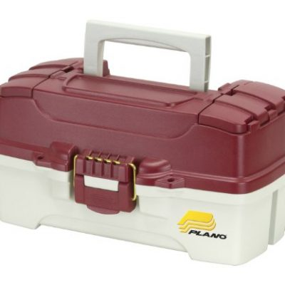 Plano 1-Tray Tackle Box with Dual Top Access, Red Metallic/Off White