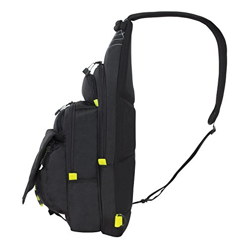 Spiderwire black sling tackle pack backpack w 1 medium for Fishing tackle box backpack